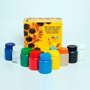 Набор акриловых эмалей для работ по фарфору и цветным металлам