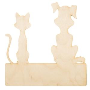 Панно-вешалка. Кошка и Собака