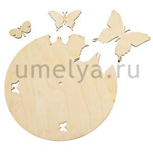Заготовка для часов. Бабочки с бабочками