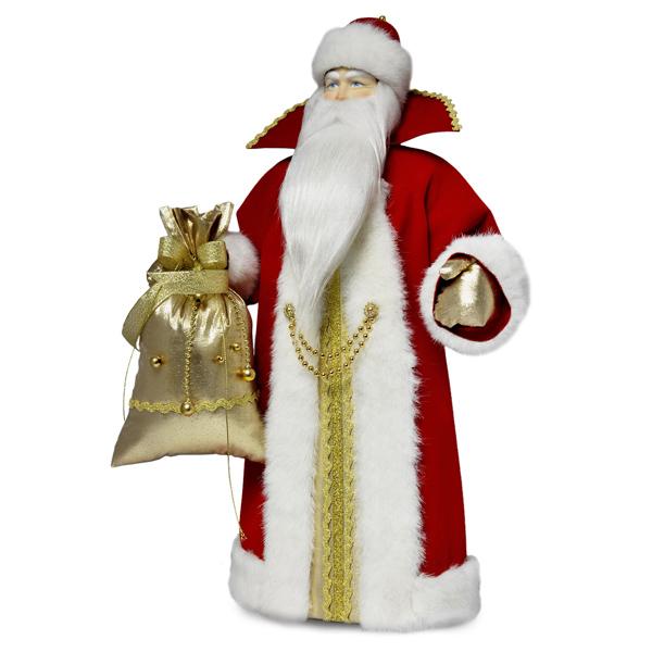 Конфетница Дед Мороз. Малый красный. Тубус