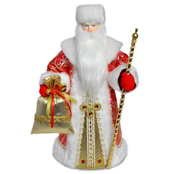 Конфетница Дед Мороз. Красный. Конус