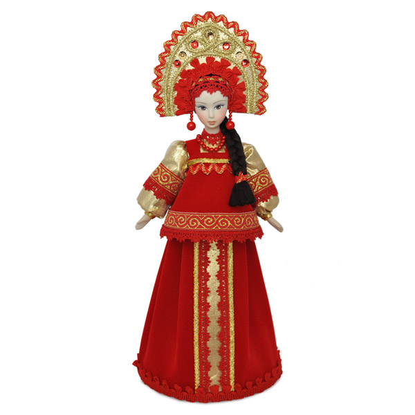 Конфетница Марья в русском национальном костюме. Конус