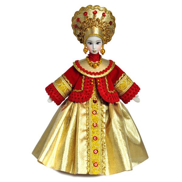 Конфетница Марьяна в русском национальном костюме. Тубус