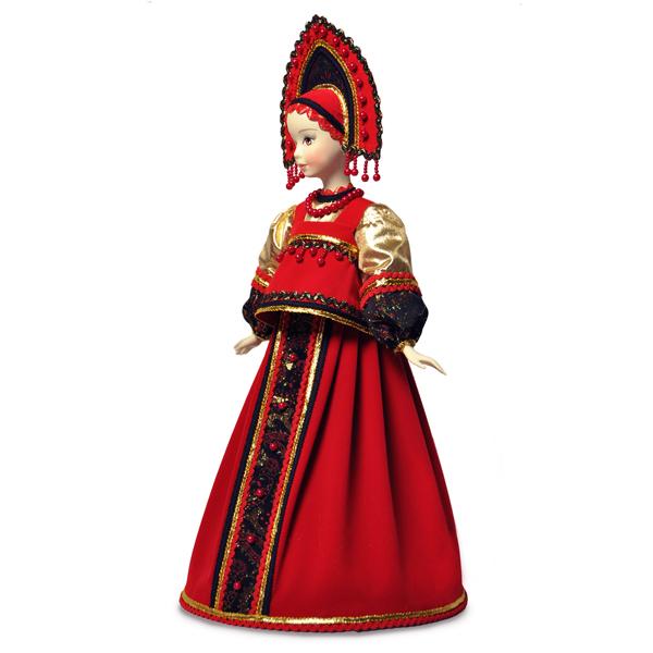 Конфетница Варвара в русском национальном костюме. Конус
