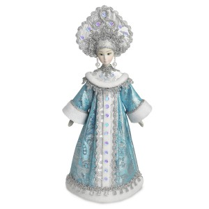 Конфетница Снегурочка голубая. Конус