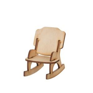 Кукольная мебель. Кресло-качалка