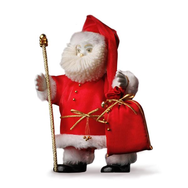 Кукла Дед Мороз корпоративный красный, на ножках