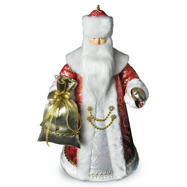 Конфетница Дед Мороз. Малый красный. Конус