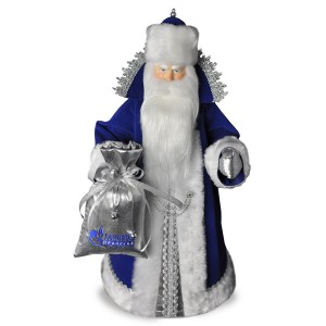 Конфетница Дед Мороз. Малый синий. Конус