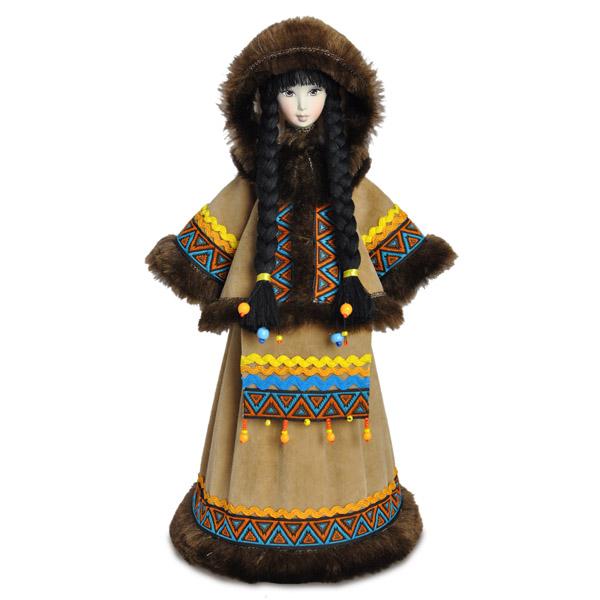 Конфетница Северянка в национальном костюме. Конус