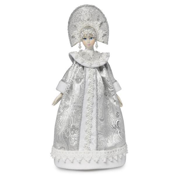 Конфетница Снегурочка серебряная. Тубус