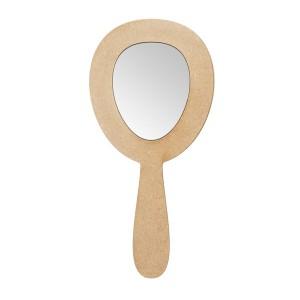 Зеркало с ручкой овальное