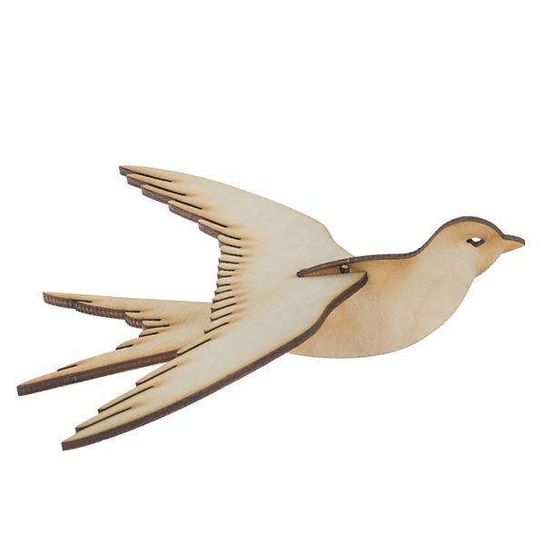 Птичка объемная на подвесе