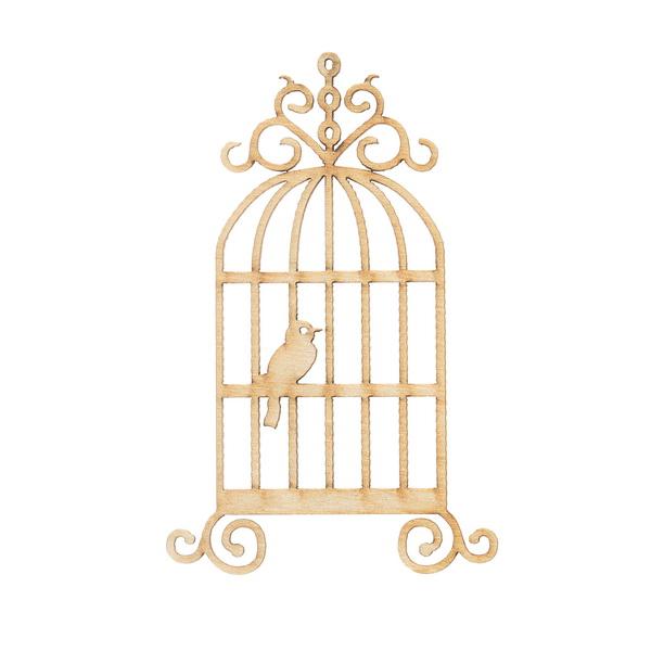 Клетка резная (одна птичка)
