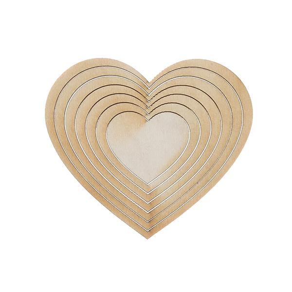 Контурные сердечки (набор)