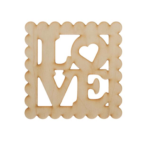 Слово LOVE в рамке