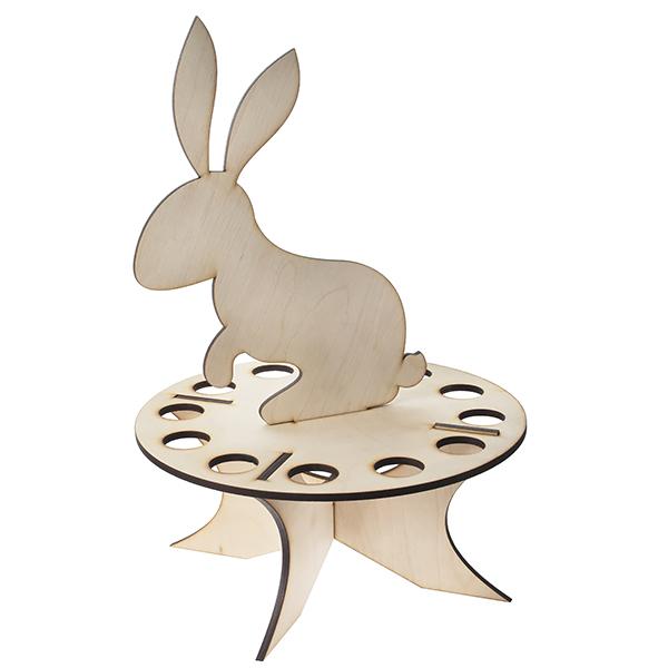 Подставка под яйца с зайцем