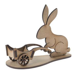 Заяц с тележкой
