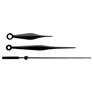 22-К-B: 63/98/98 мм, металлические черные. Секундная черная