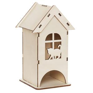 Чайный домик Кошка на окошке средний
