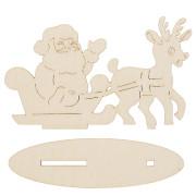 Дед мороз с оленем на подставке