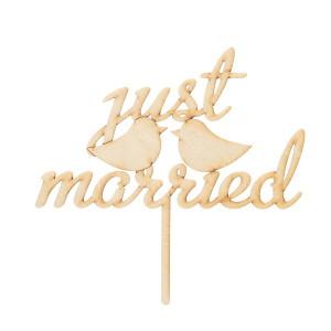 Just Married с птичками на палочке