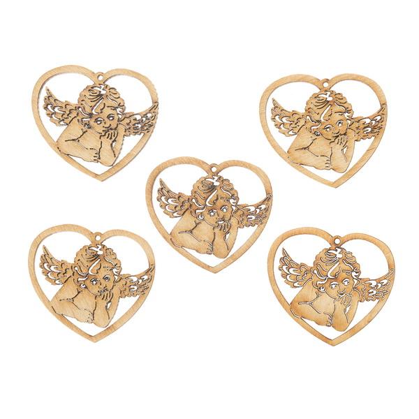 Декоративный элемент ангел в сердце
