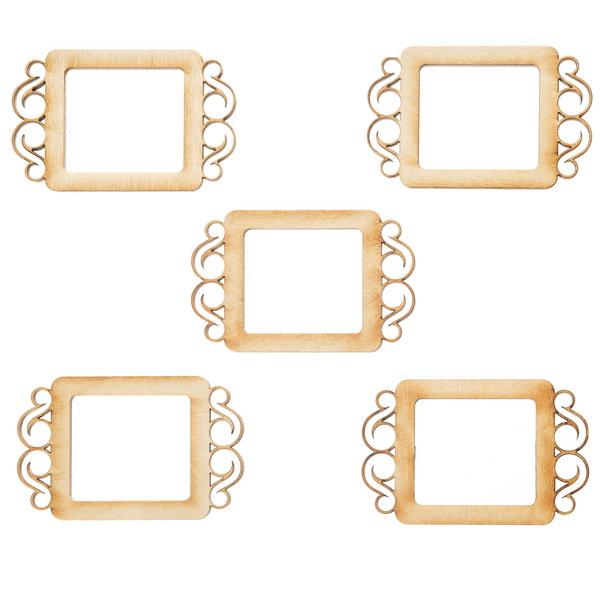 Декоративный элемент Рамочка с завитками 8*5 см