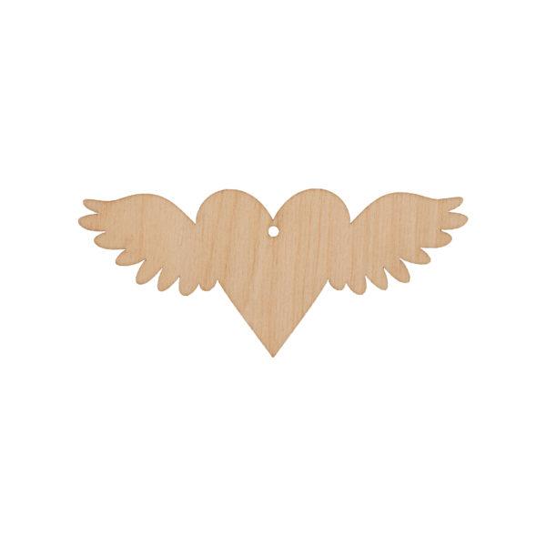 Подвеска сердце с крылышками