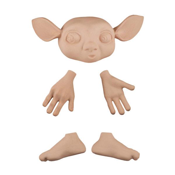 202492 Эльф 1, голова 13 см(от уха до уха), высота 3,5 см, руки 5 см, ноги 4,5 см