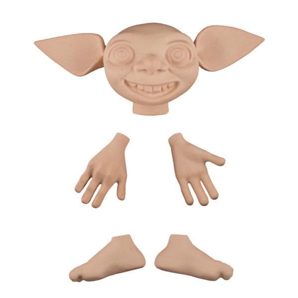 202493 Эльф 2, голова 13 см(от уха до уха), высота 5 см, руки 5 см, ноги 4,5 см