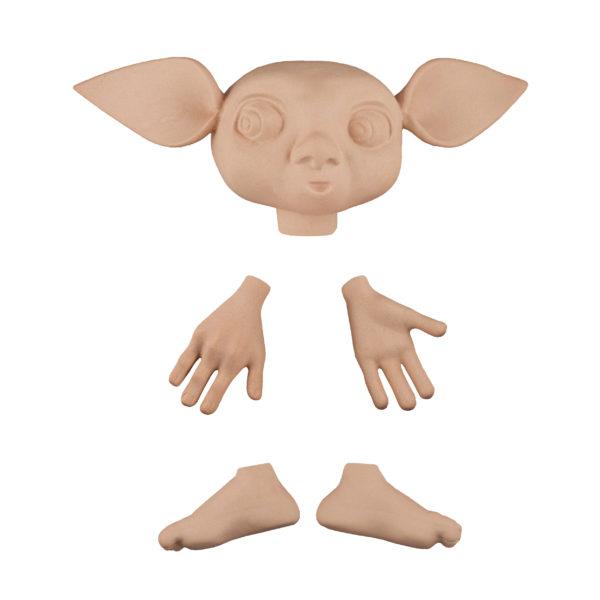 202494 Эльф 3, голова 13 см(от уха до уха), высота 5 см, руки 5 см, ноги 4,5 см