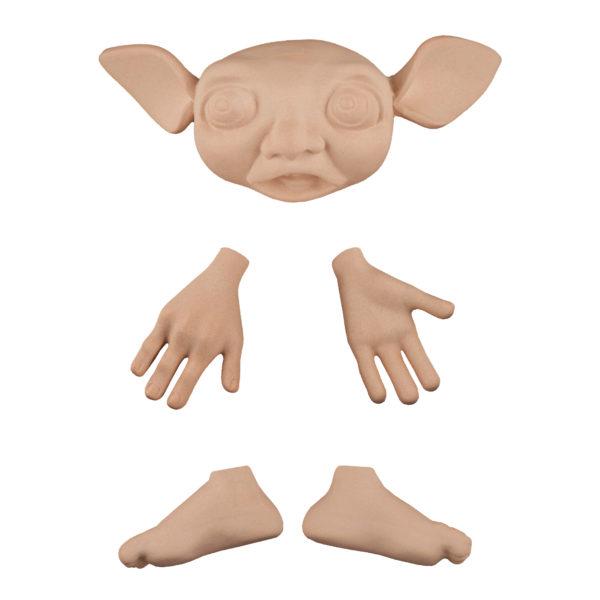 202495 Эльф 4, голова 13 см(от уха до уха), высота 3,5 см, руки 5 см, ноги 4,5 см