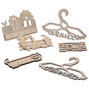 Деревянные вешалки и ключницы