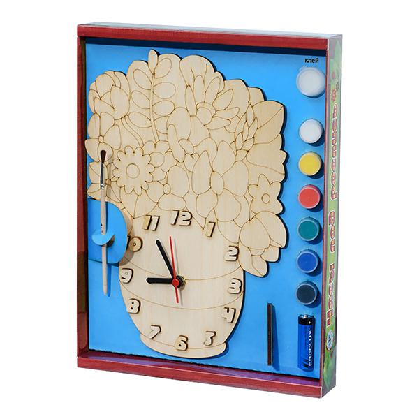 Арт. 209417 Часы под поспись Букет цветов