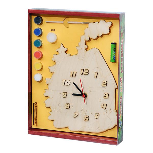 Арт. 209418 Часы под роспись Домик в деревне